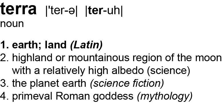 Definition of terra